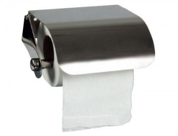 Dispensador Papel Q-CONNETC Higienico rollo domestico Acero Brillo