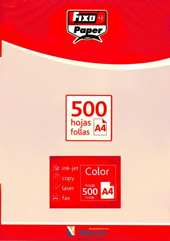 Papel multifuncion Color FIXO A4 claro 80 gr. Crema pastel 500 hojas