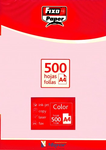 Papel multifuncion Color FIXO A4 claro 80 gr. Rosa claro 500 hojas