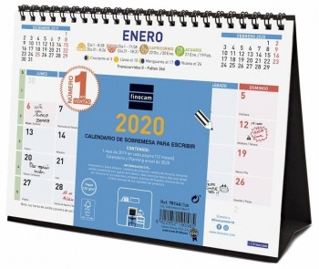 Calendario mesa FINOCAM Color S 210 x 150 mm. para escribir 2020