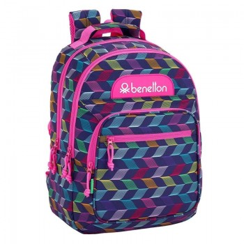 Mochila BENETTON adaptable a carro 32 x 16 x 42 cm. Ondas