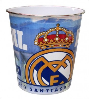Papelera REAL MADRID PVC: Aro metal  23 x 24 cm.
