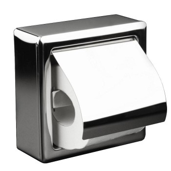 Dispensador Papel SIE Higienico rollo domestico boble rollo Acero antibandalico Brillo
