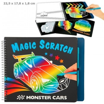 MONSTER CARS Cuaderno Magic Scratch