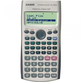 Calculadora CASIO financiera  FC-100V