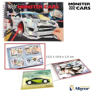 MONSTER CARS Cuaderno Colorear Create your
