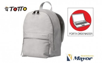 Mochila TOTTO Morral Independientes Calandria con porta PC. 1920B-G30 Blanco