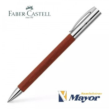 Bolígrafo FABER CASTELL Ambition Madera Peral