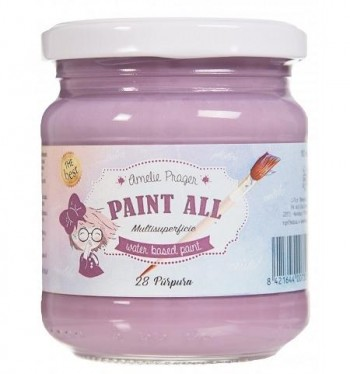 Pintura acrilica AMELIE Multisuperficie PAINT ALL esmalte al agua 30 ml. Purpura