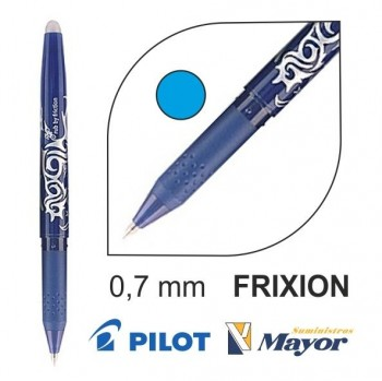 Bolígrafo borrable PILOT frixion ball 0,7 mm. azul