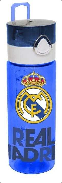 Botella REAL MADRID Tritan 550 ml. translucida Azul