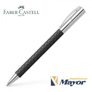 Bolígrafo FABER CASTELL Ambition 3D Leaves Negro