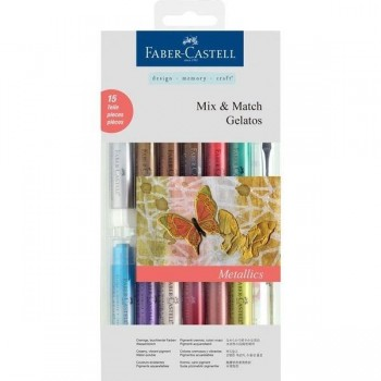 Gelatos Ceras acuarelables FABER CASTELL 15 colores metalizados