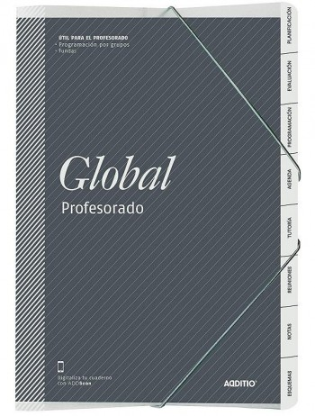 Cuaderno profesor ADDITIO A4 carpeta global