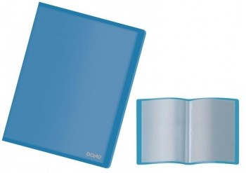 Carpeta 40 fundas DOHE flexible translucida azul