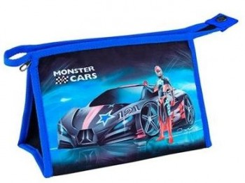 MONSTER CARS neceser 24 x 15 x 1.5 cm.