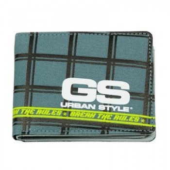 Cartera GS URBAN Lona estampada multiples departamentos gris
