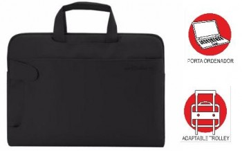 Maletin OFFICE BOX bandolera urban bussines Porta PC. Negro
