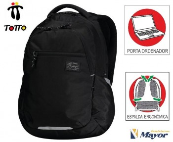 Mochila TOTTO commuter Pc. y tablet Missisipi Eco-Friendly 1820F-N01 negro