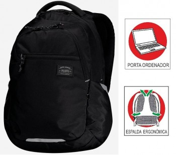 Mochila TOTTO commuter Pc. y tablet Missisipi 1820F-N01 negro