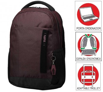 Mochila TOTTO commuter Pc. y tablet 14\c Deleg 1920F-M09 Burdeos