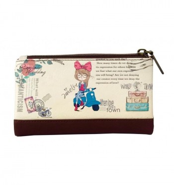 Billetero monedero AMELIE polipiel 10 x 17 x 3 cm.World Travel