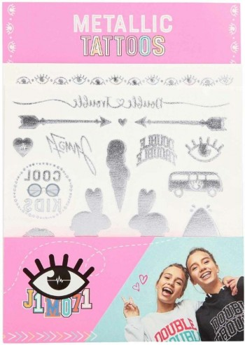 J1M071 Lisa y Lena Tattoos Metalic