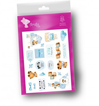 Etiquetas cartulina ANELIE Die Cuts Scrap para decorar Agugutata Boy
