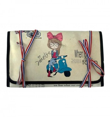 Cartera portapinceles AMELIE polipiel 17 x 29 x 2 cm. World Travel