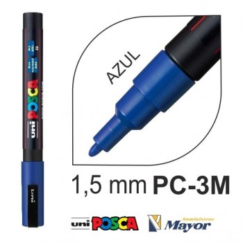 Rotulador POSCA Base agua PC-3M punta fina 0,9-1,3 mm. Azul