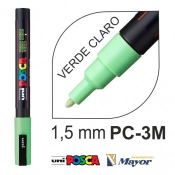 Rotulador POSCA Base agua PC-3M punta fina 0,9-1,3 mm. Verde Claro