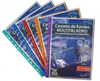 Carpeta 10 fundas OFFICE.BOX lomera multitaladro archivable