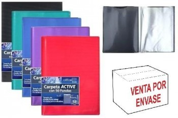 Carpeta 50 Fundas OFFICE BOX Active A4 Supra colores surtidos