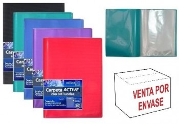 Carpeta 80 Fundas OFFICE BOX Active A4 Supra colores surtidos