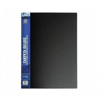 Carpeta 20 fundas OFFICE BOX deluxe A3 lomo personalizable negro