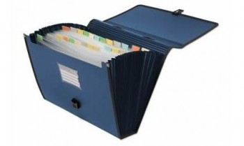 Carpeta con asa fuelle OFFICE BOX A4 24 bolsas
