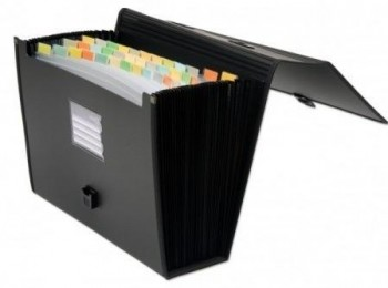Carpeta fuelle con asa OFFICE BOX A4 36 bolsas negro