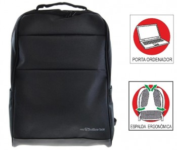 Mochila Portaordenador OFFICE BOX Global X-tend con Porta PC. Negro