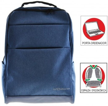 Mochila Portaordenador OFFICE BOX Global X-tend con Porta PC. Azul marino
