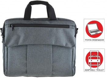 Maletin Portadocumentos OFFICE BOX Global X-tend Business con Porta PC. Gris marengo