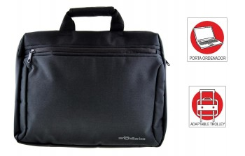 Maletin Portadocumentos OFFICE BOX Global X-tend con Porta PC. Negro