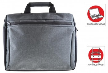 Maletin Portadocumentos OFFICE BOX Global X-tend con Porta PC. Gris marengo