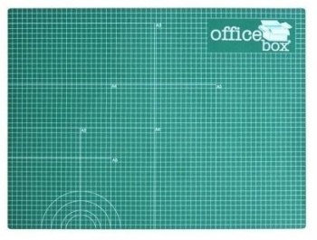 Plancha de corte A2 OFFICE BOX 600 x 450 x 3 mm. Verde