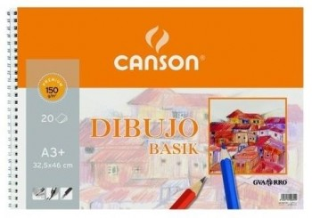 Bloc dibujo CANSON basik 325 x 460 mm. DIN- A3+ 150 grs. 20 hojas
