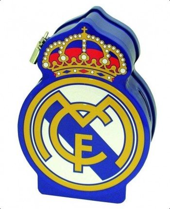 Hucha REAL MADRID Escudo del equipo en relieve 18 x 13 x 6 cm.