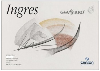 Bloc dibujo CANSON papel ingres 325 x 460 mm. A3+ 108 grs. 20 hojas