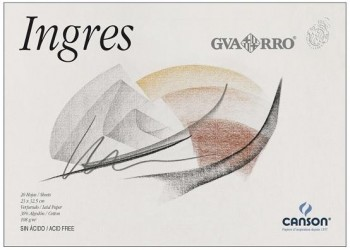 Bloc dibujo CANSON Papel ingres 230 x 325 mm. A4+ 108 grs. 20 hojas