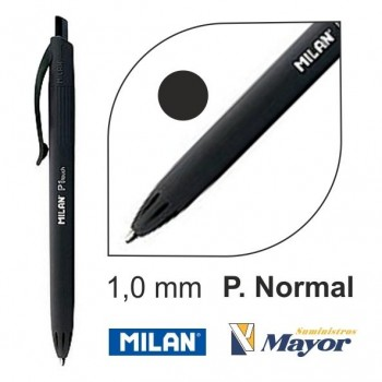Bolígrafo MILAN Retractil touch P1 1 mm. negro