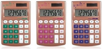 Calculadora MILAN solar bolsillo 8 digitos copper pocket