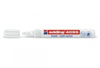 Rotulador tiza EDDING 4095 blanco 2-3 mm.